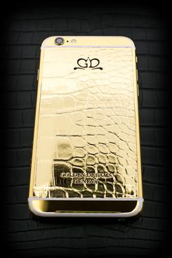 iPhone 6S Golden Alligator gold 24k