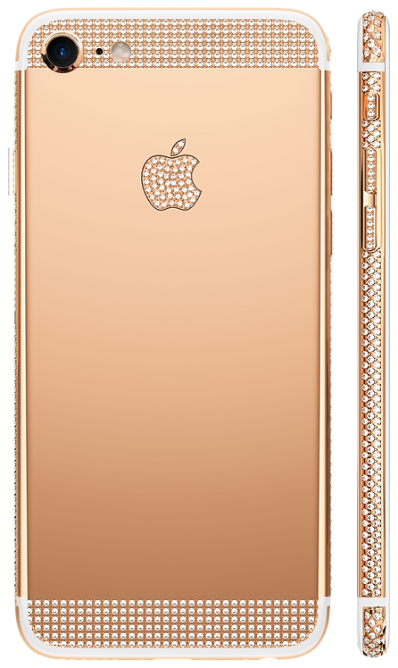 iPhone 7 Swarovski Rose Gold 18k