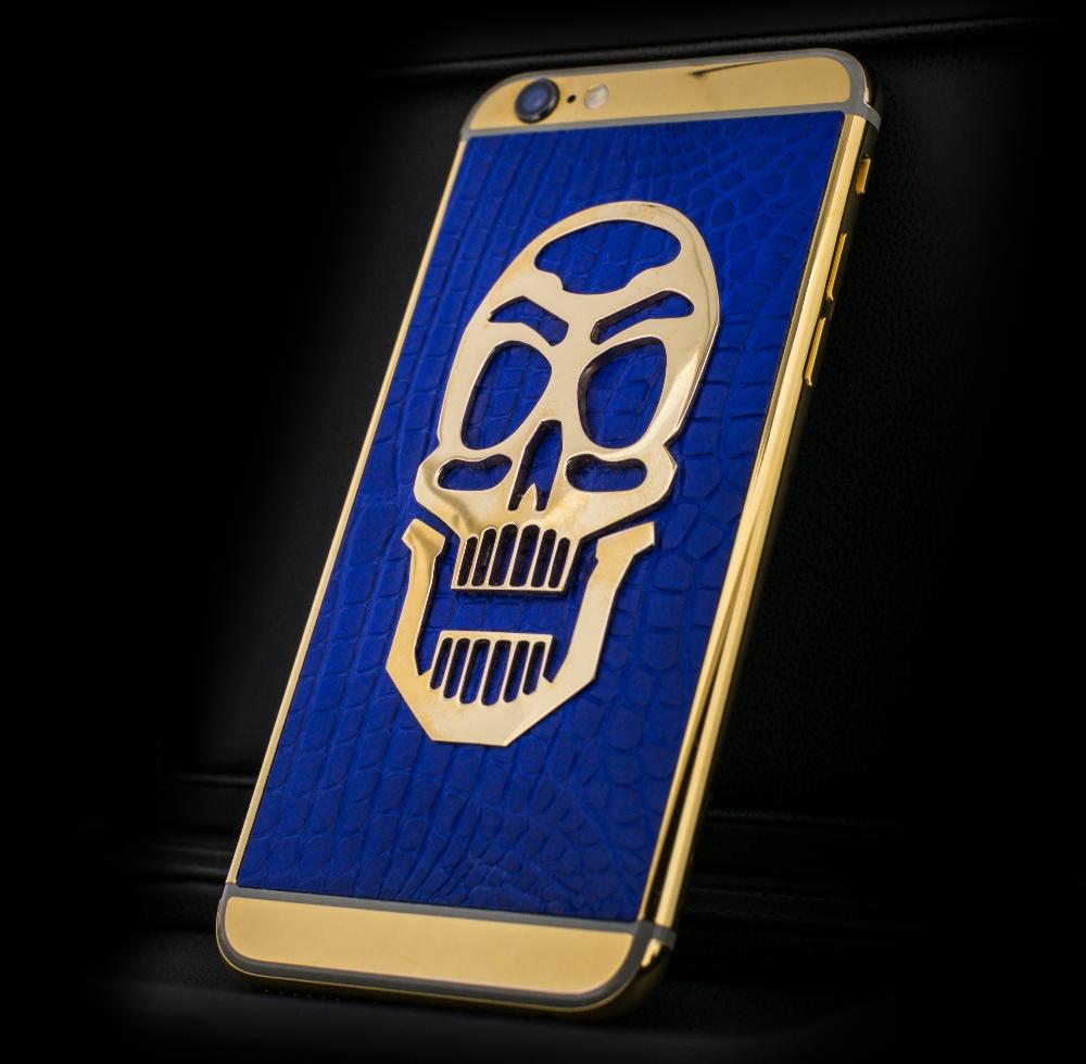 Skull_Blue_Gold_iphone_6s