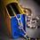 Thumbnail: Трехцветная сумочка из кожи страуса