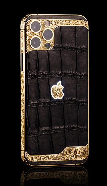 iPhone 12 Pro Max Ornate Aristocrat Black Gold, 256Gb