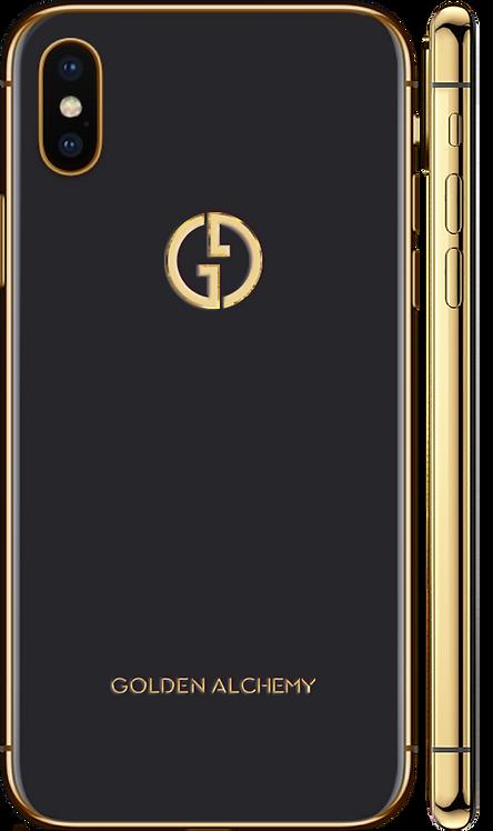 iPhone XS Gold 24k черный
