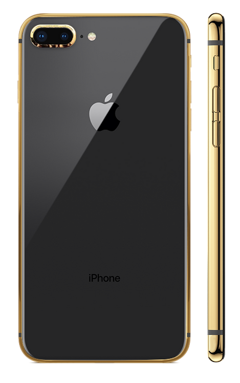 iPhone 8+ Gold 24k черный