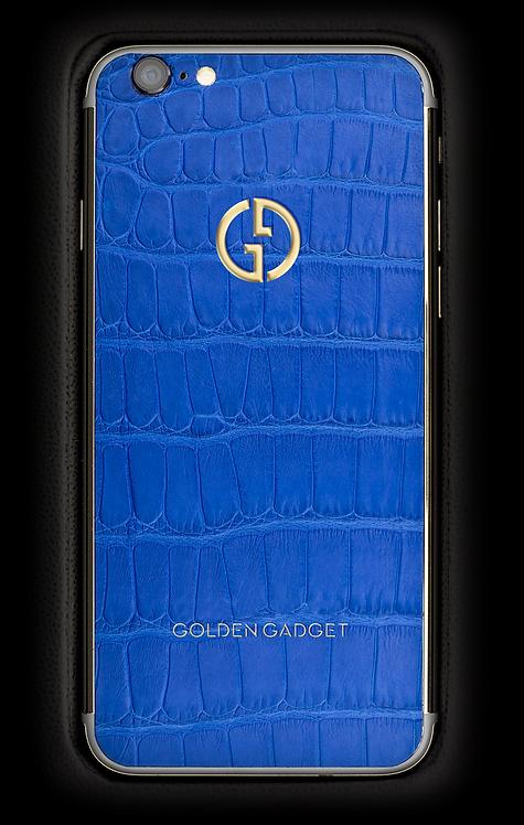 iPhone 6S Gold Blue Alligator
