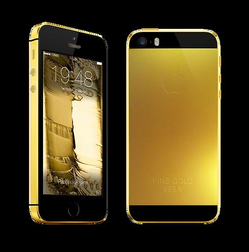 Покрытие золотом вашего iPhone 5S Black