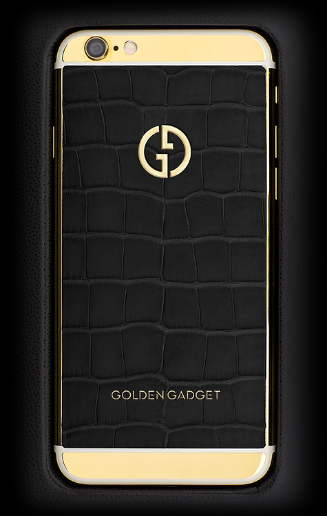 iPhone 6S Gold Black Alligator