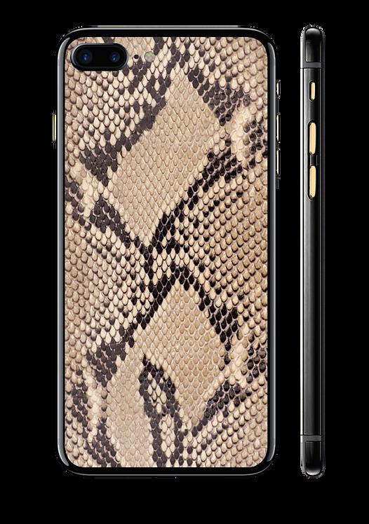 iPhone 7+ оникс, brown python