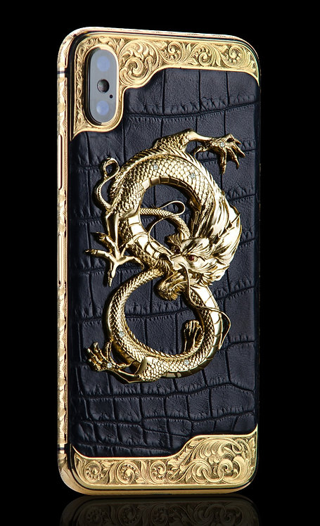 iPhone XS Golden Dragon Ornate