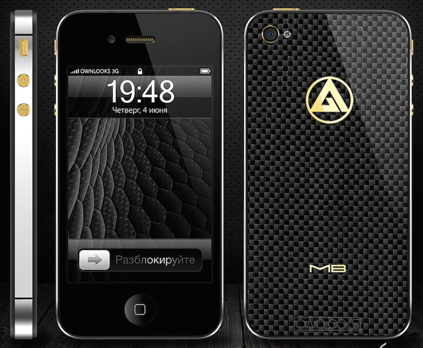 iPhone 4S Carbon Platinum эксклюзив