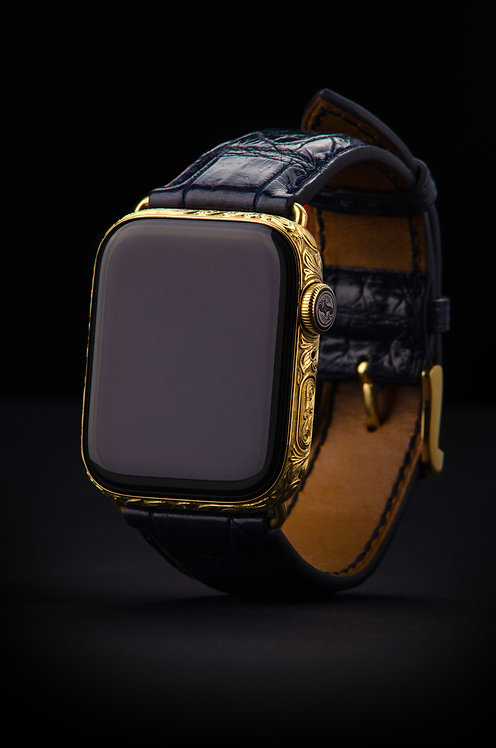 Apple Watch S5 Gold Edition Hand Engraved