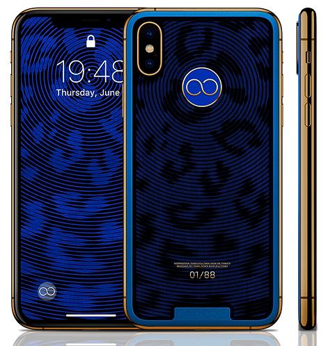 iPhone XS Spiral Blue