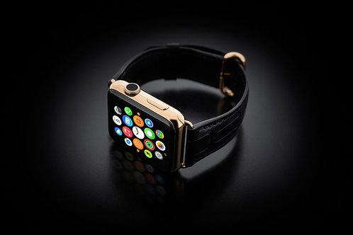 Apple Watch S3 Gold Edition alligator