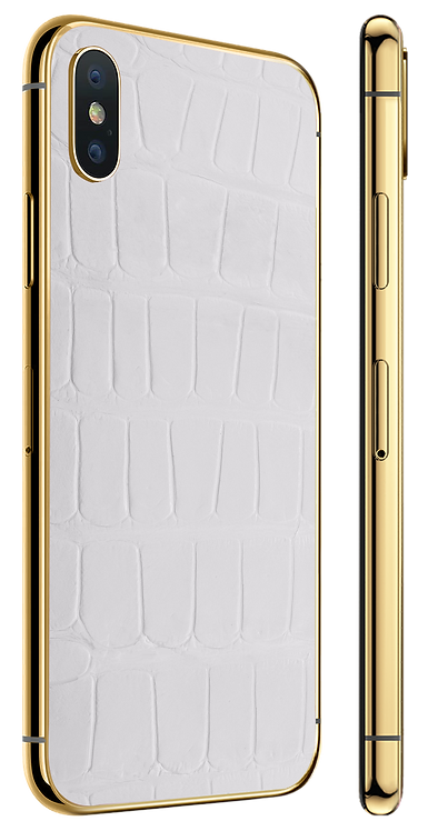 iPhone X Gold White Alligator