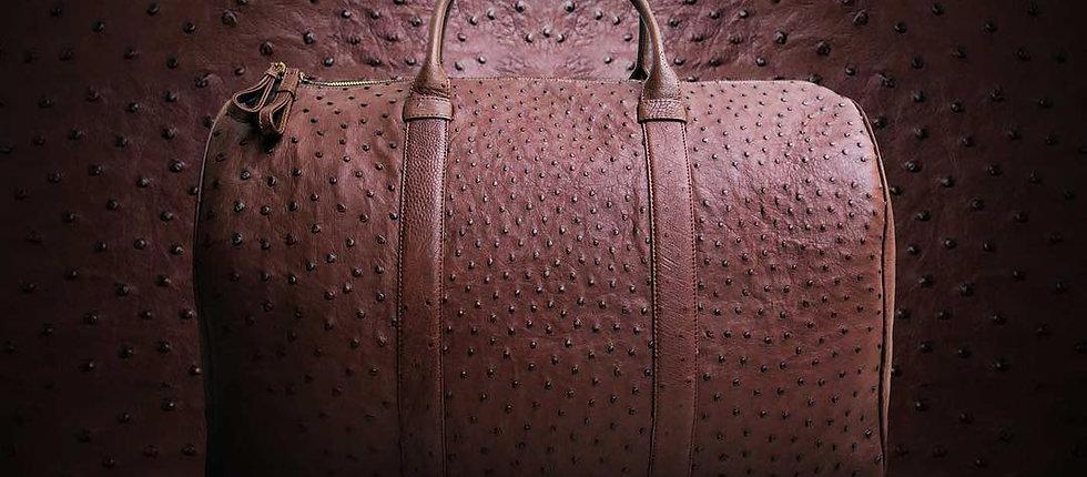Duffel bag - cумка из кожи страуса