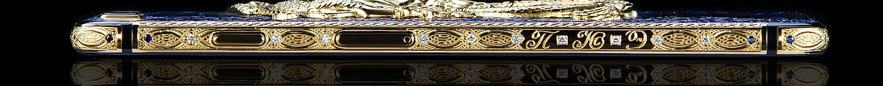 iPhone 8 gold hand engraved and diamond setted