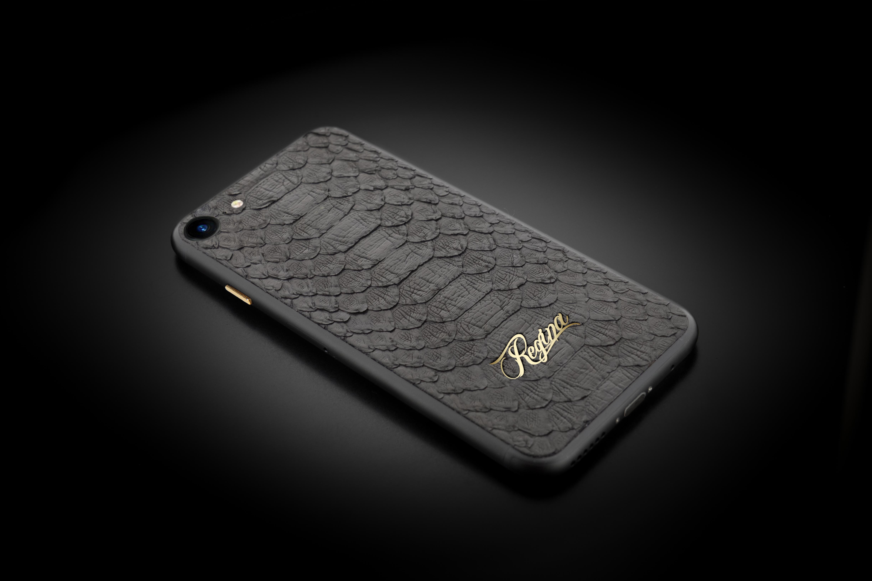 iPhone 7 black python hot pressing