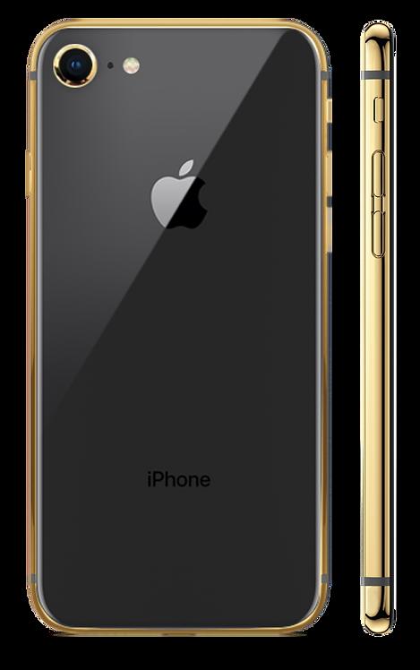 iPhone 8 Gold 24k Черный