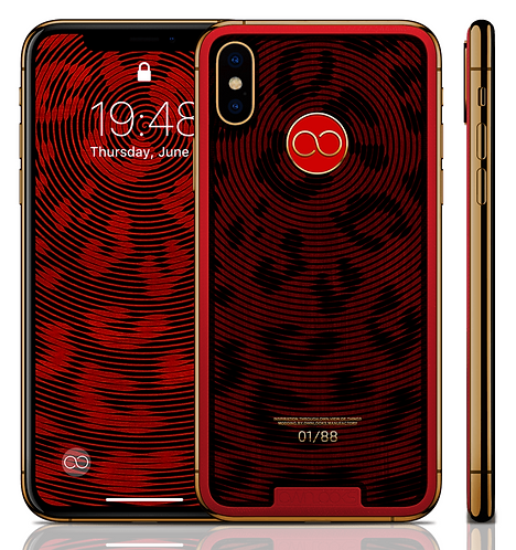 iPhone XS Spiral Red