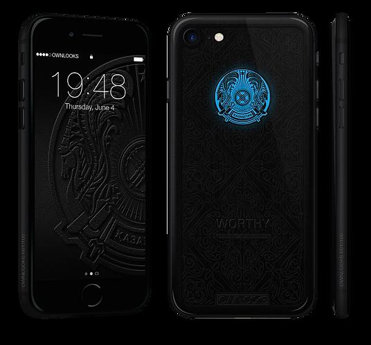 iPhone black 7 герб KZ дерево Кото