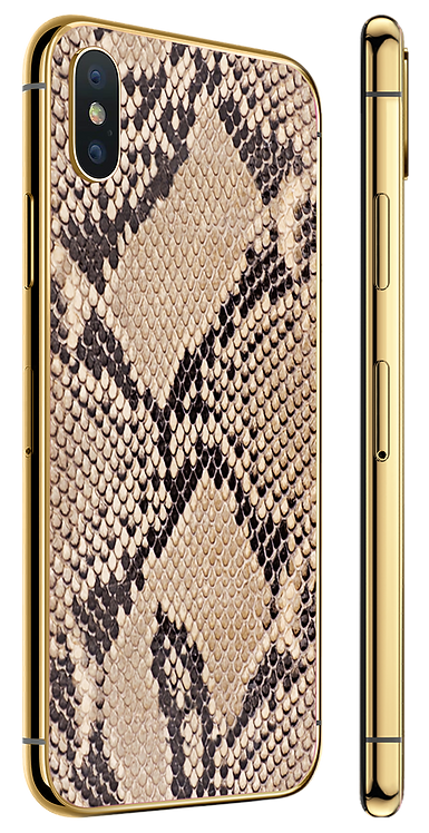 iPhone XS Gold Python
