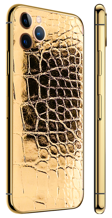 iPhone 11 Pro Gold 24k Alligator