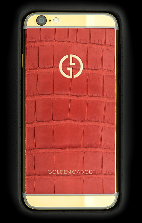 iPhone 6S Gold Red Alligator