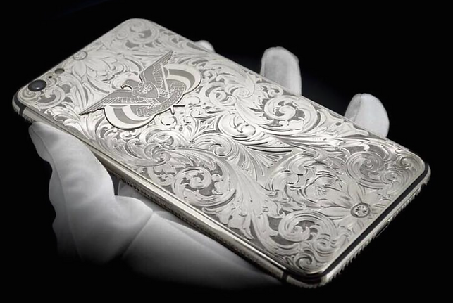 VIP iPhone Platinum Hand Engraved