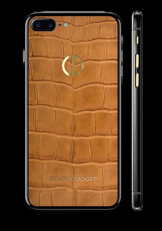 iPhone 7+ оникс Brown Alligator