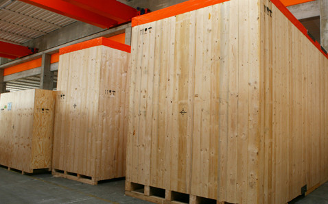 VGL machinery crates packaging storage