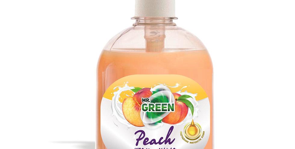 """Крем - мыло """"Peach"""" с увлажняющим эффектом ( 500мл.)"""