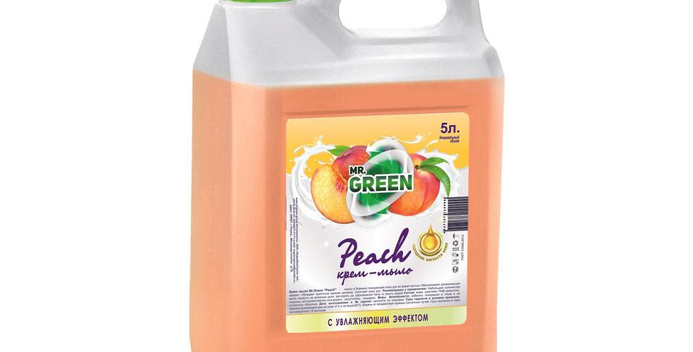 """Крем - мыло """"Peach"""" с увлажняющим эффектом 5л."""