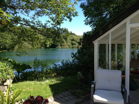 The lake and summer house
