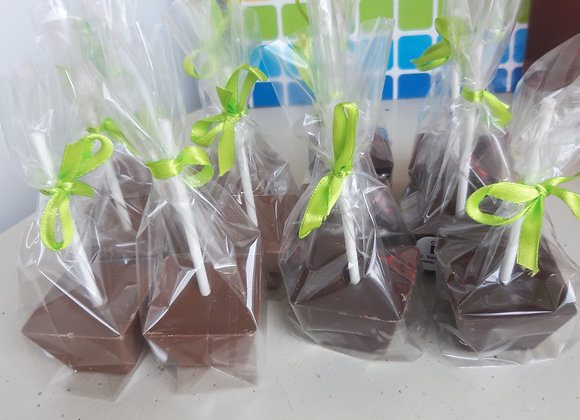 Chocolademelk-blokjes