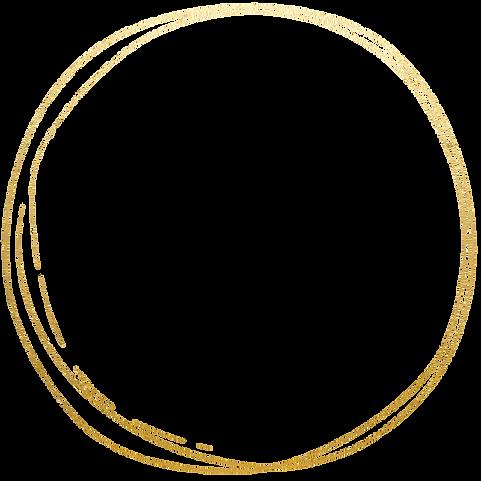 Gold hand drawn circle
