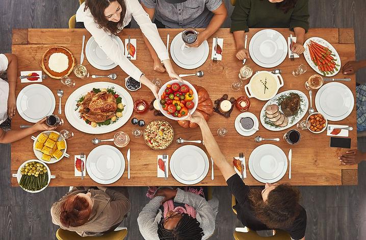 Dîner de fête diététique