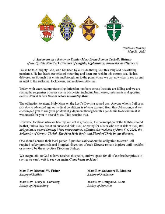 Announcment regarding Mass Obligation (1