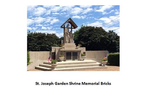 St. Joseph Garden Shrine Memorial Brick
