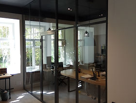 Перегородки офисные алюминиевые
