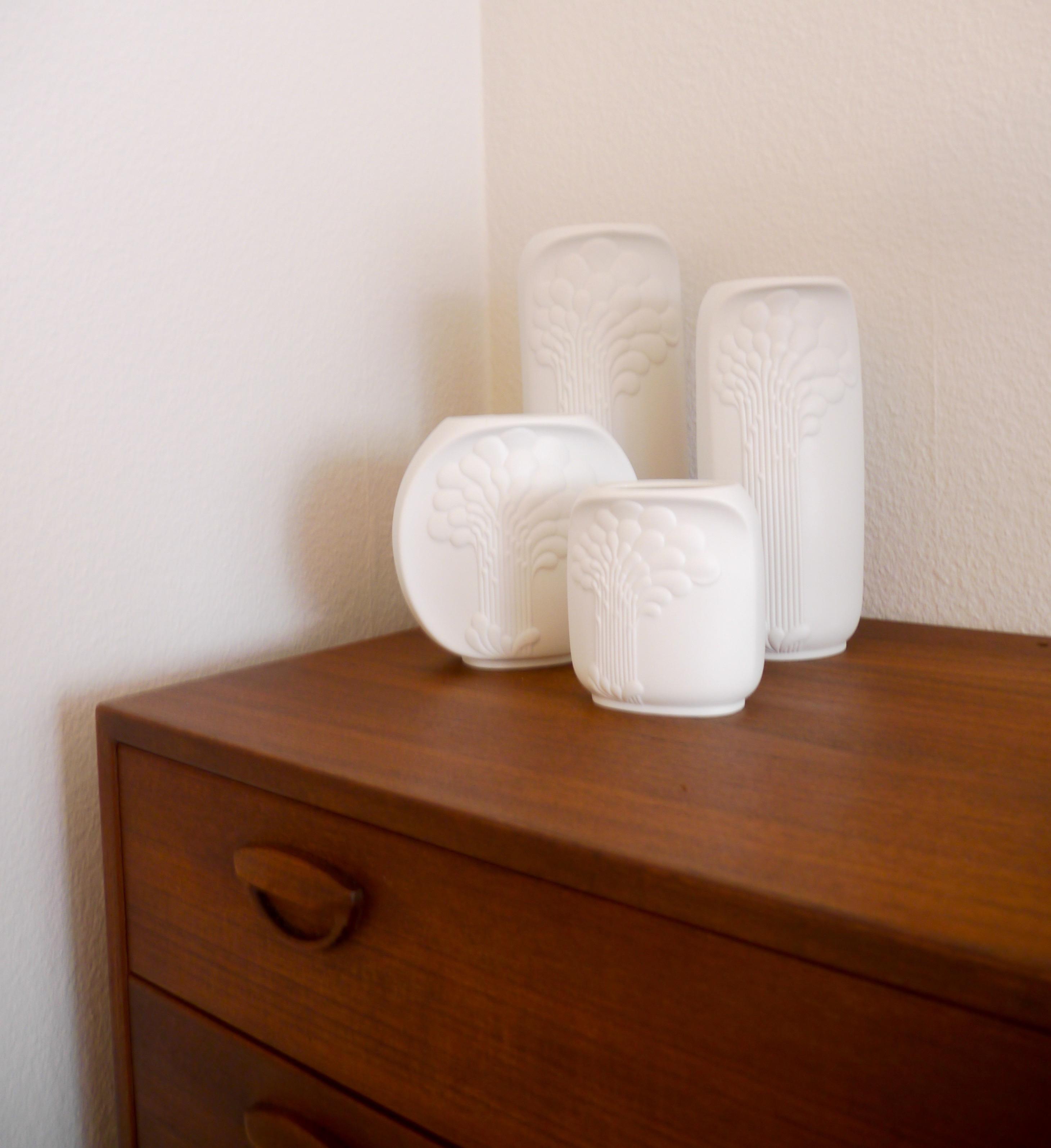 Biscuit Porcelain Vases