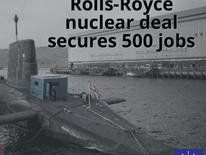 Rolls-Royce: Nuclear sub deal confirms 500 jobs