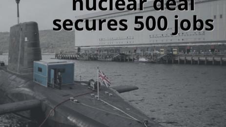 Rolls-Royce: Nuclear sub deal confirms 500 jobs
