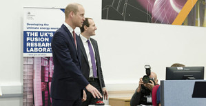 Prince William tours UK's new fusion energy experiment
