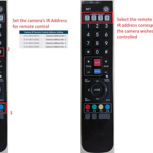 How to control multiple AREC cameras with a remote