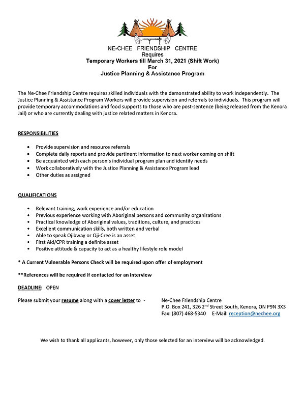 Justice Planning  Assistance Program Job