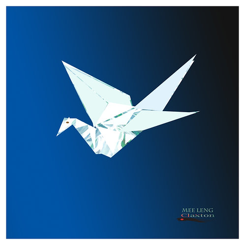 Line Art Origami Crane