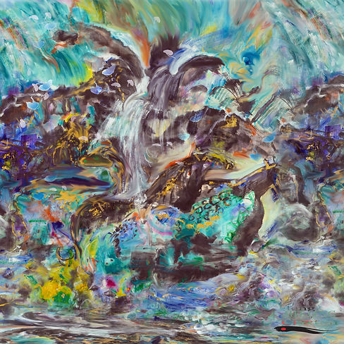 Abstract Horses Waterfall1.jpg