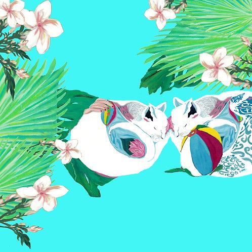 Dreaming Together in Zen Tropical Garden