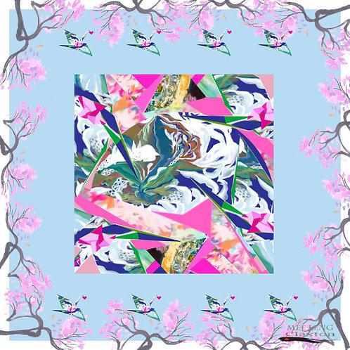 Origami Sakura Abstract