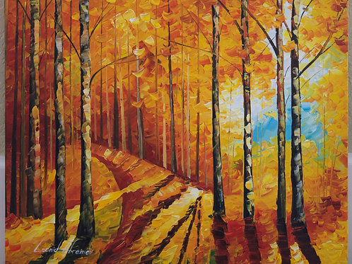 """Birches"" by Leonid Afremov"