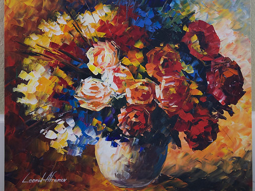 """""""Bouquet For My Love"""" by Leonid Afremov"""